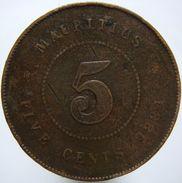Mauritius 5 Cents 1884 - Mauritius