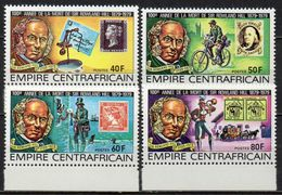 Centrafricaine - 1978 - Yvert N° 373 à 376 ** - Sir Rowland Hill - Centrafricaine (République)