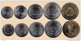 Tonga Set 5 Coins 2015 - Tonga