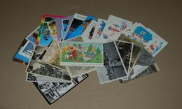 Lot De 34 Cartes Postales Voyagé Avec Timbres Et Sans Timbre, Non Voyagé, Ancienne Et Récente Voir L'annonce - Postcards
