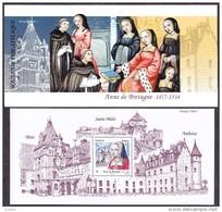 France - Feuillet Bloc Souvenir N°  91 ** Anne De Bretagne - Premier Tirage De 55000 Exemplaires - Souvenir Blocks & Sheetlets
