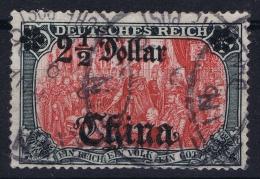 Deutsche Post China : Mi Nr 37 A Obl./Gestempelt/used BPP Signiert /signed/ Signé - Ufficio: Cina