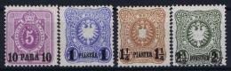 Deutsche Post Turkei  Mi Na 1 + 3 + 4 + 5  MH/* Falz/ Charniere Nachdrucken - Ufficio: Turchia