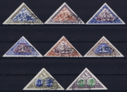 Lietuva: Michel  Nr 348A - 355A Obl./Gestempelt/used - Lettland