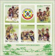 Cuba HB 170 ** Scouts. 2002 - Blocks & Sheetlets