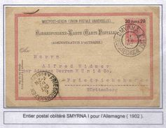 Turquie Ottoman Turkey Poste Autrichienne Smirna I 1902 Entier Stationary Lettre Cover Smyrne Izmir - 1837-1914 Smyrna