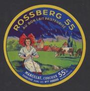 Etiquette De Fromage  -  Rossberg 55  -  Ets Marcillat à Corcieux  (88 ) - Quesos