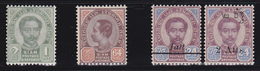 Siam  1900-08   4 Val Yv.7,41,63-4   MNH **/ MLH * - Siam
