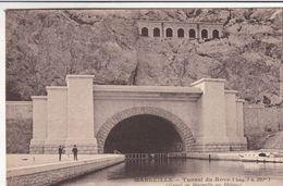 Cp , 13 , MARSEILLE , Tunnel Du Rove (long. 7, 200 Km), Canal De Marseille Au Rhône - Autres