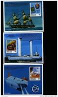MICRONESIA - 1997  PIONEERS OF THE DEEP  THREE  MS  MINT NH - Micronesia