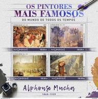 MOZAMBIQUE 2016 SHEET ALPHONSE MUCHA ART PAINTINGS ARTE PINTURAS Moz16529a - Mozambique