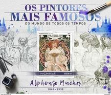 MOZAMBIQUE 2016 SHEET ALPHONSE MUCHA ART PAINTINGS ARTE PINTURAS Moz16529b - Mozambique