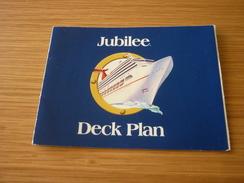 Carnival Cruise Jubilee Ship Deck Plan Brochure Leaflet - World