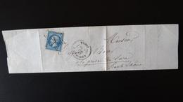France - Lettre Enveloppe - Etoile 4 Sur 20c Bleu Napoléon III N°22- Année 1863 - 1849-1876: Classic Period