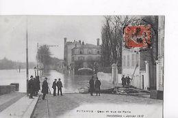 92 / PUTEAUX / INONDATIONS / JANVIER 1910 / QUAI ET RUE DE PARIS - Puteaux