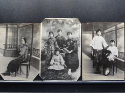 LOT DE 3 PHOTOS DE FEMMES CHINOISES DATE LE 1 ER FEVRIER 1930 - Personnes Anonymes