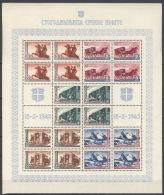 Serbien 94/98 Zusammendruckbogen Zähnung A ** Postfrisch - Bezetting 1938-45