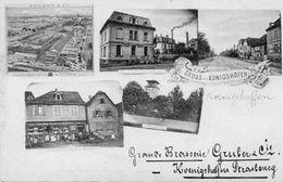 CPA - STRASBOURG-KOENIGSHOFFEN (67) - Carte Multi-Vues De La Brasserie Gruber & Cie En 1900 - Strasbourg