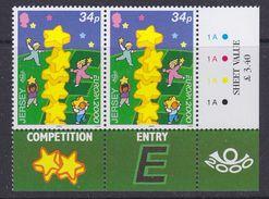 Europa Cept 2000 Jersey 34p (pair, Corner+trafic Lights) ** Mnh (36989A) - Europa-CEPT