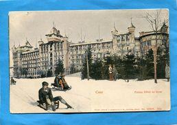 CAUX-hiver-Touristes En Luge Devant Le Palace Hotel-années 1900  -édition Sussenheim - VD Vaud