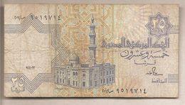 Egitto - Banconota Circolata Da 25 Piastre P-57b.3 - 1990 - Egypt