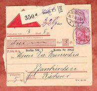 Paketkartenteil, Nachnahme, MiF Germania, Dessau Nach Pfarrkirchen 1918 (42496) - Briefe U. Dokumente