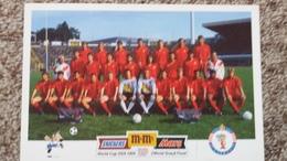 CPM FOOTBALL FOOTBALLEUR STADE EQUIPE DE RODE DUIVELS LES DIABLES ROUGES  WORLD CUP USA 1994 - Soccer