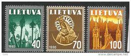 Litauen, 1991, 474/76, Freimarken:  Nationale Symbole, MNH ** - Lituania