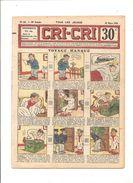CRI-CRI N°757 Du 30 Mars 1933 (16 ème Année) Voyage Manqué - Magazines Et Périodiques