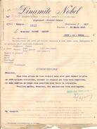 Vieux Papier - Italie - Avigliana - Dinamite Nobel - Mars 1917 - Italie