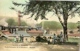 ENVIRONS DE LONGWY HAUTS-FOURNEAUX DE LA PROVIDENCE A REHON (CARTE GLACEE ET COLORISEE) - France