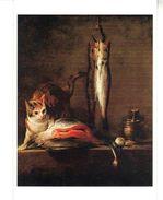 CPM -   Tableau De Jean-Siméon  CHARDIN (1699.1779)  Chat Avec Tranche De Saumon - Musée Thyssen-Bornemisza  Madrid - Schilderijen