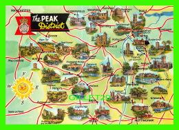 CARTES GÉOGRAPHIQUES - THE PEAK DISTRICT IN ENGLAND - A DENNIS POSTCARD - - Cartes Géographiques