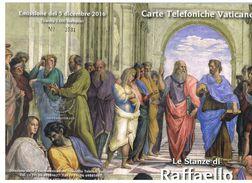 VATICANO (VATICAN) -  2016 LE STANZE DI RAFFAELLO   -  4 SCHEDE NUOVE ( 218-221) IN FOLDER - Vaticano
