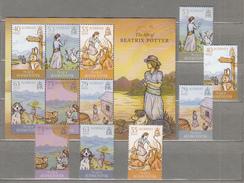 ALDERNEY 2013 The Life Of Beatrix Potter Complete Set Sheet MNH (**) #21506 - Alderney