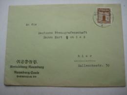 1938 , Propagandabrief NSDAP  NAUMBURG - Deutschland