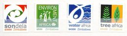Zimbabwe 2004 Enviroment Africain 4 V. Mint ** - Zimbabwe (1980-...)
