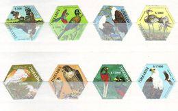 Zimbabwe 2004 Oiseaux Nationaux, First Sapoa Joint Stamp Issue 8 V. Mint ** - Zimbabwe (1980-...)