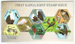 Zimbabwe 2004 Oiseaux Nationaux, First Sapoa Joint Stamp Issue - Minisheet 8 V. Mint ** - Zimbabwe (1980-...)