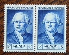 France - YT N°948 Paire - Gaspard Monge - 1953 - Neufs - France