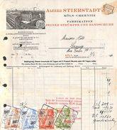 Alfred Stierstadt - Köln (Fabrikation Strümpfe Und Handschuhe) Stamps, Illustration, 1931 - Allemagne