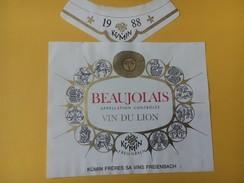 5422 - Beaujolais Vin Du Lion 1988 Signes Du Zodiaque - Beaujolais