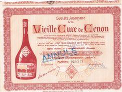 Action Ancienne - Société Anonyme De La Vieille Cure De Cenon - Titre De 1952 - - Industrie