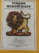 5423 - Collino Ticino 1988 Lion Du Zodiaque Pour La Revue Finanz Und Wirtschaft Suisse - Etiquettes