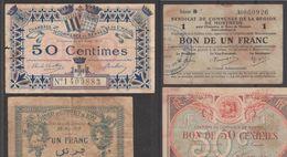 FRANCE  MONNAIES DE VILLES  DURANT LA GUERRE  1914/1918   Réf 684+ 685 - France