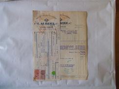 CLERMONT-FERRAND ETS L. AUBERT & Cie FRUITS CONFITS D'AUVERGNE FACTURE ET TRAITE DU 14 OCTOBRE 1949 - Food