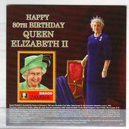 Zambia 2006 The 80th Anniversary Of The Birth Of Queen Elizabeth II Souvenirsheet 1 V. Mint ** - Zambia (1965-...)