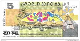 Australia - World Expo 1988 - 5 Dollars 1988 - Unc - Australia