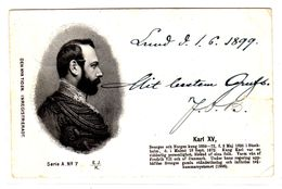 Carte Postale, Karl XV - Personnages Historiques