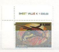 Zambia 2007 Bird Stamp Of 1994 Surcharged 1 V. Mint ** - Zambia (1965-...)